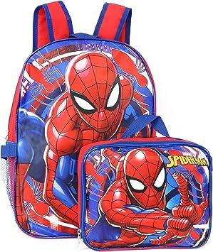 """MARVEL ULTIMATE SPIDER-MAN 16/"""" School Backpack Detachable Lunch Bag Set"""