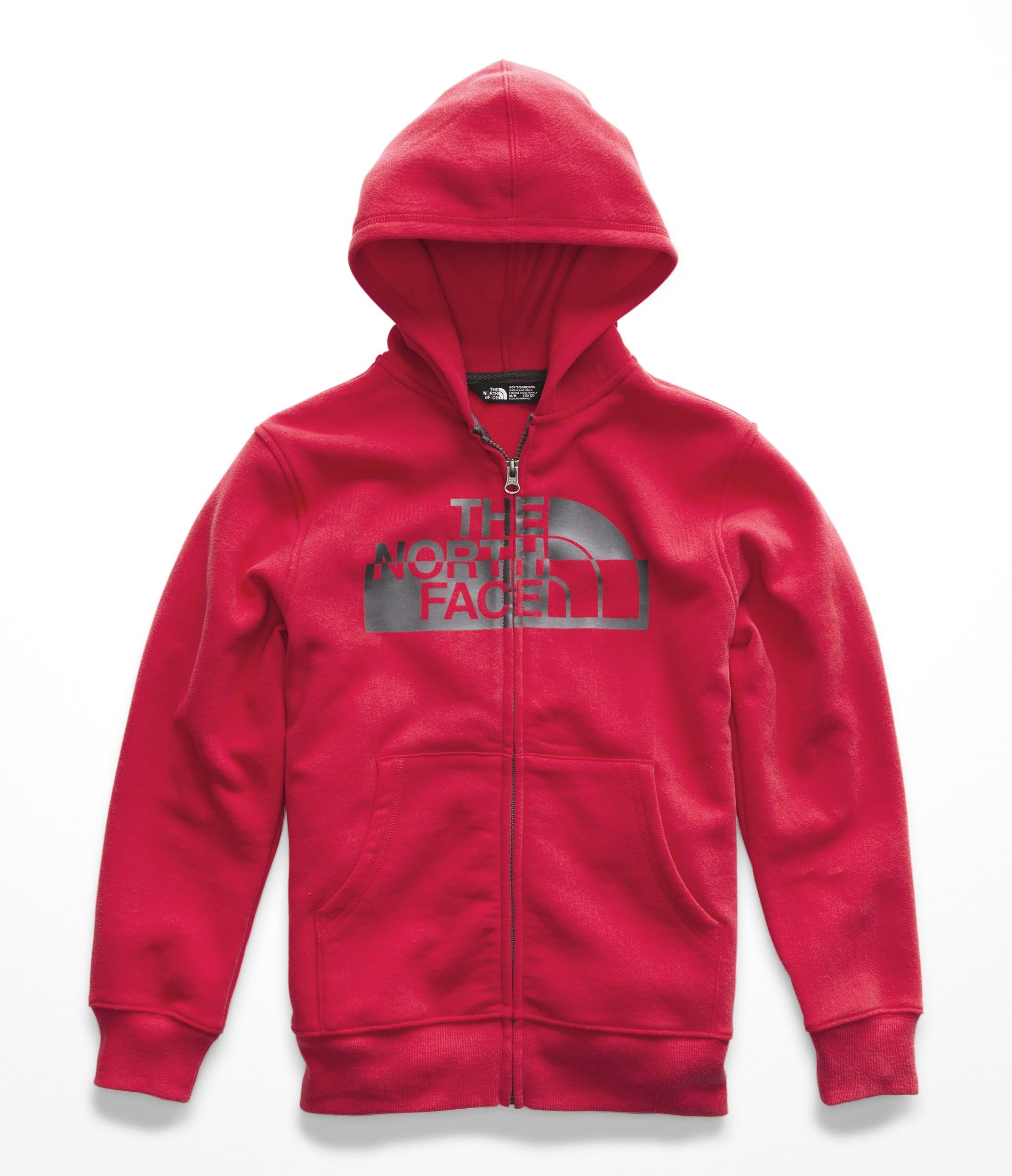 The North Face Boys Logowear Full Zip Hoodie - TNF Red & TNF Red - XS