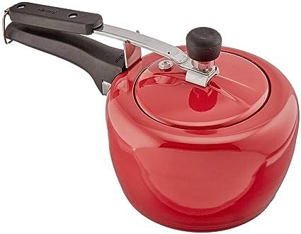 Prestige Apple Plus Aluminium Pressure Cooker, 3 Litres, Red