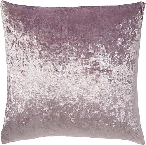 Dormify Crushed Velvet Euro Pillow Sham – Dorm Room Bedding, Nirvana Purple, 26 in x 26 in