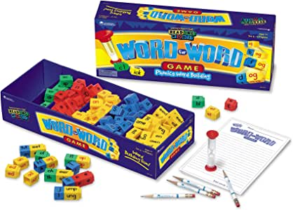 Learning Resources Word for Word Phonics Game, Word Building Game, 2-4 Player, Ages 7+
