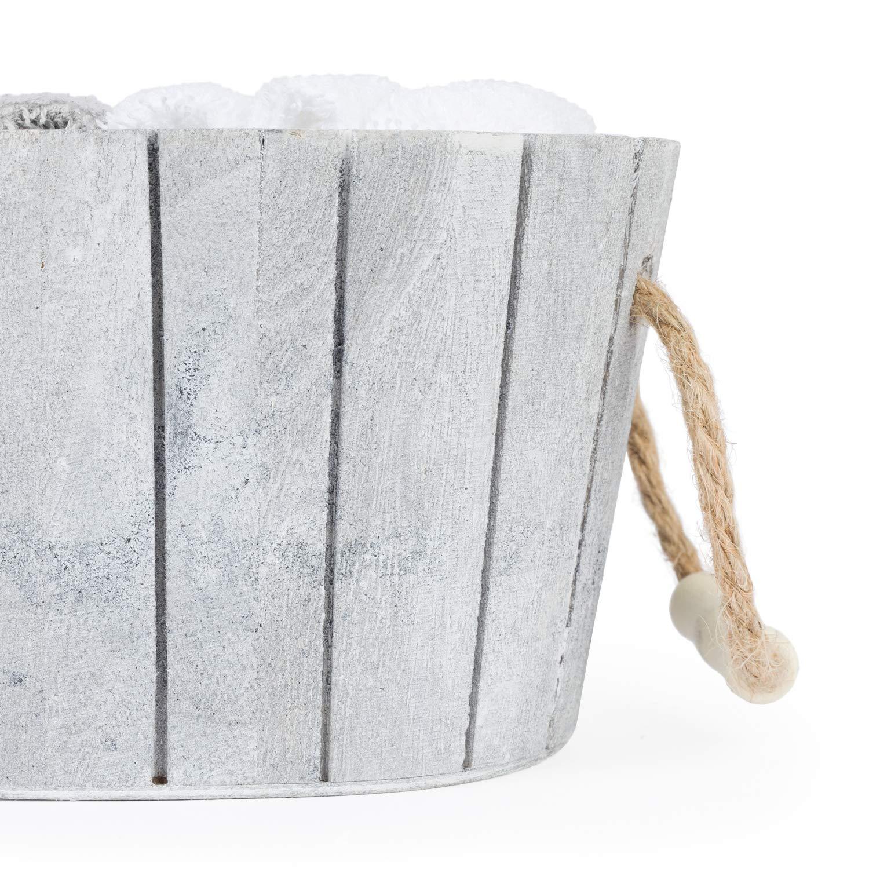 Set di Asciugamani per Gli Ospiti in Cassa con Stella Design Coast- Bianco//Beige S.L Montse Interiors