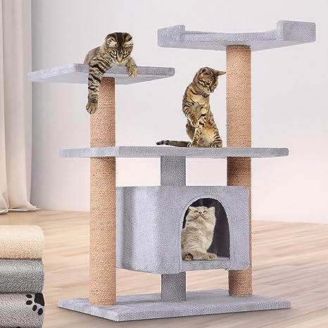 Leopet – Rascador para Gatos Árboles Gato Rascador Árbol para Gatos Escalada algodón Color a Elegir