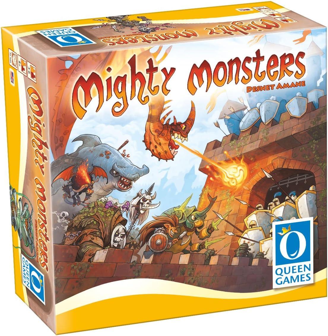 Mighty Monsters Family Board Game by Queen Games: Amazon.es: Juguetes y juegos