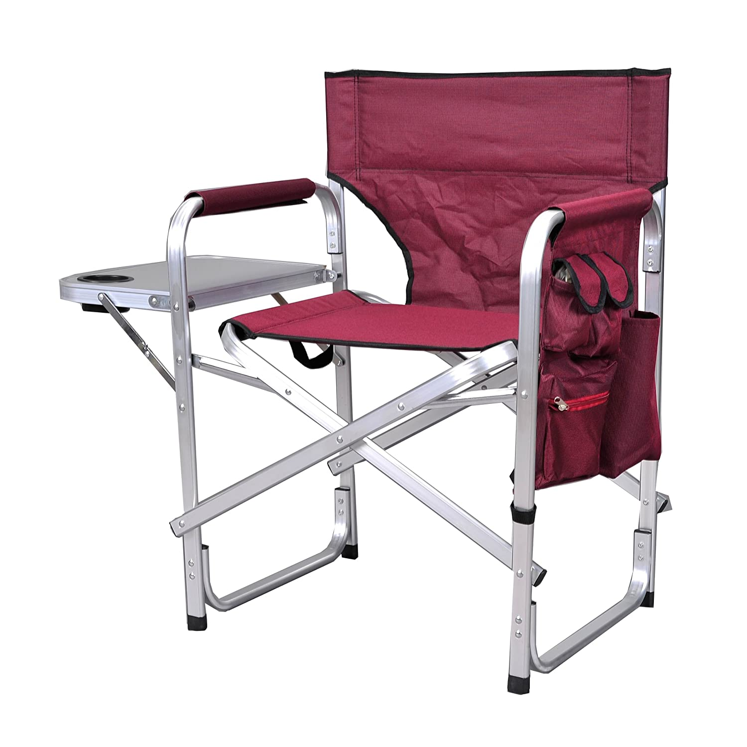 Amazon.com: Stylish Camping SL1204BUR Full Back Folding Directoru0027s Chair:  Kitchen U0026 Dining