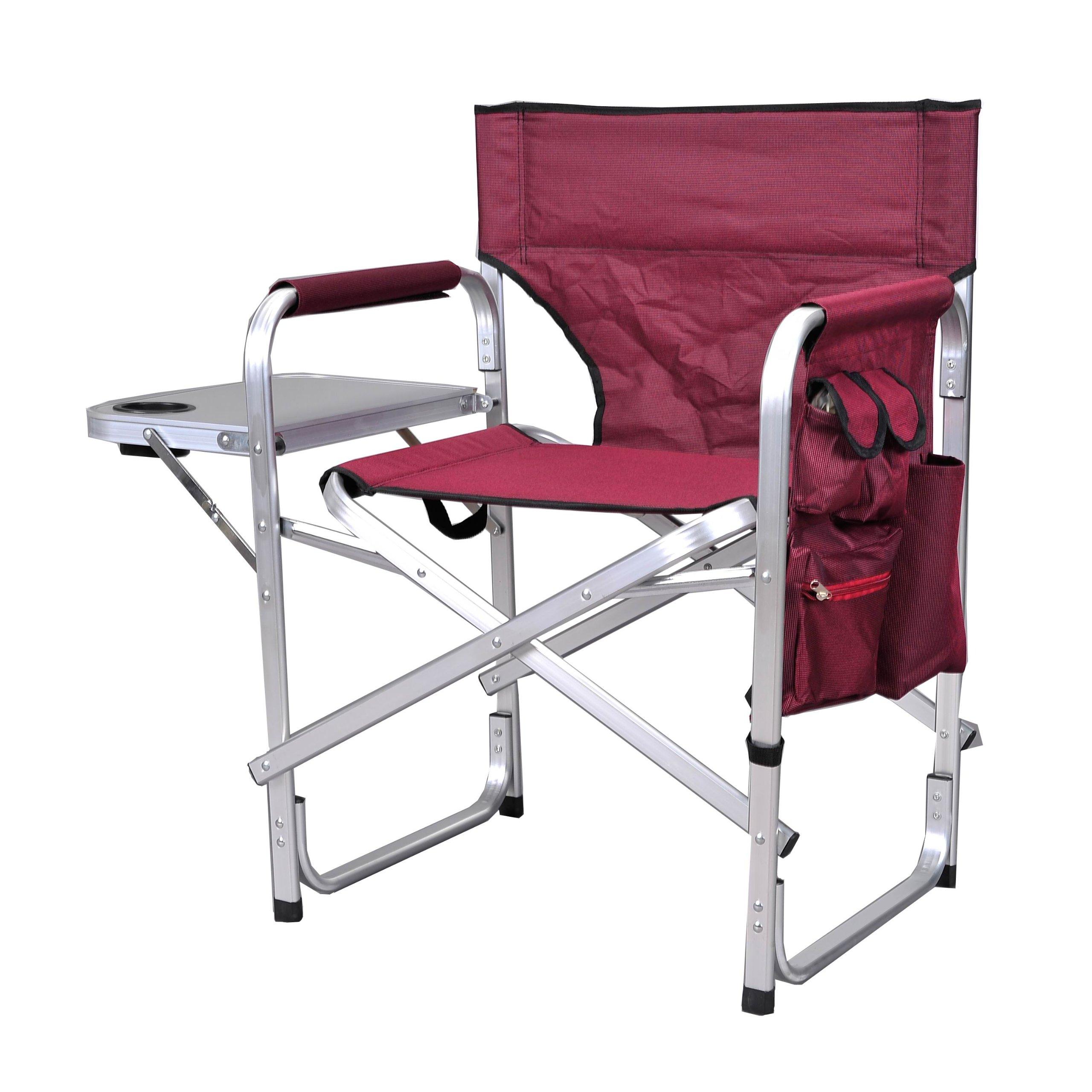Stylish Camping SL1204BUR Full Back Folding Director's Chair by Stylish Camping