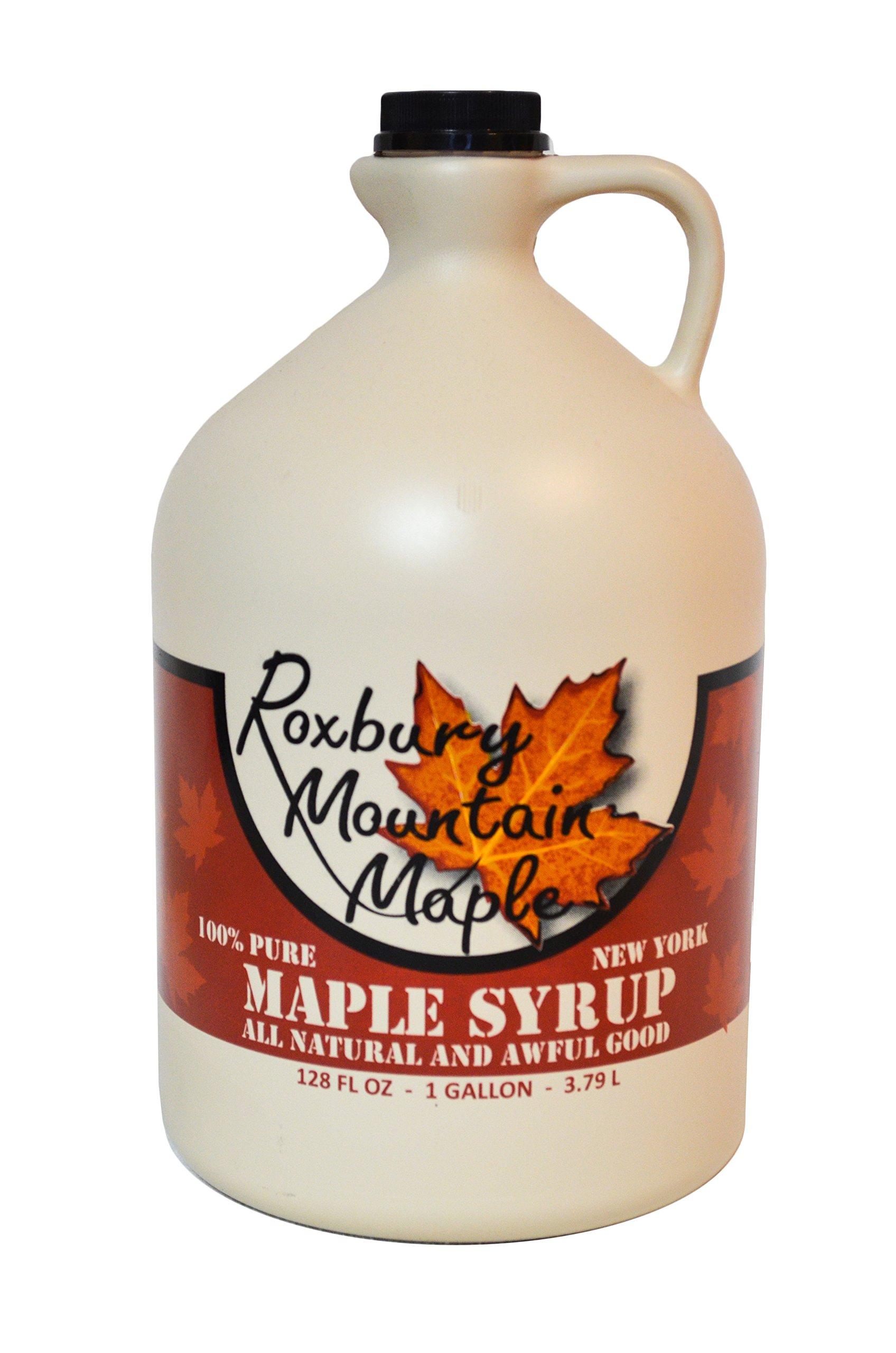 Pure Grade A Dark Maple Syrup, Roxbury Mountain Maple, 128 Ounces
