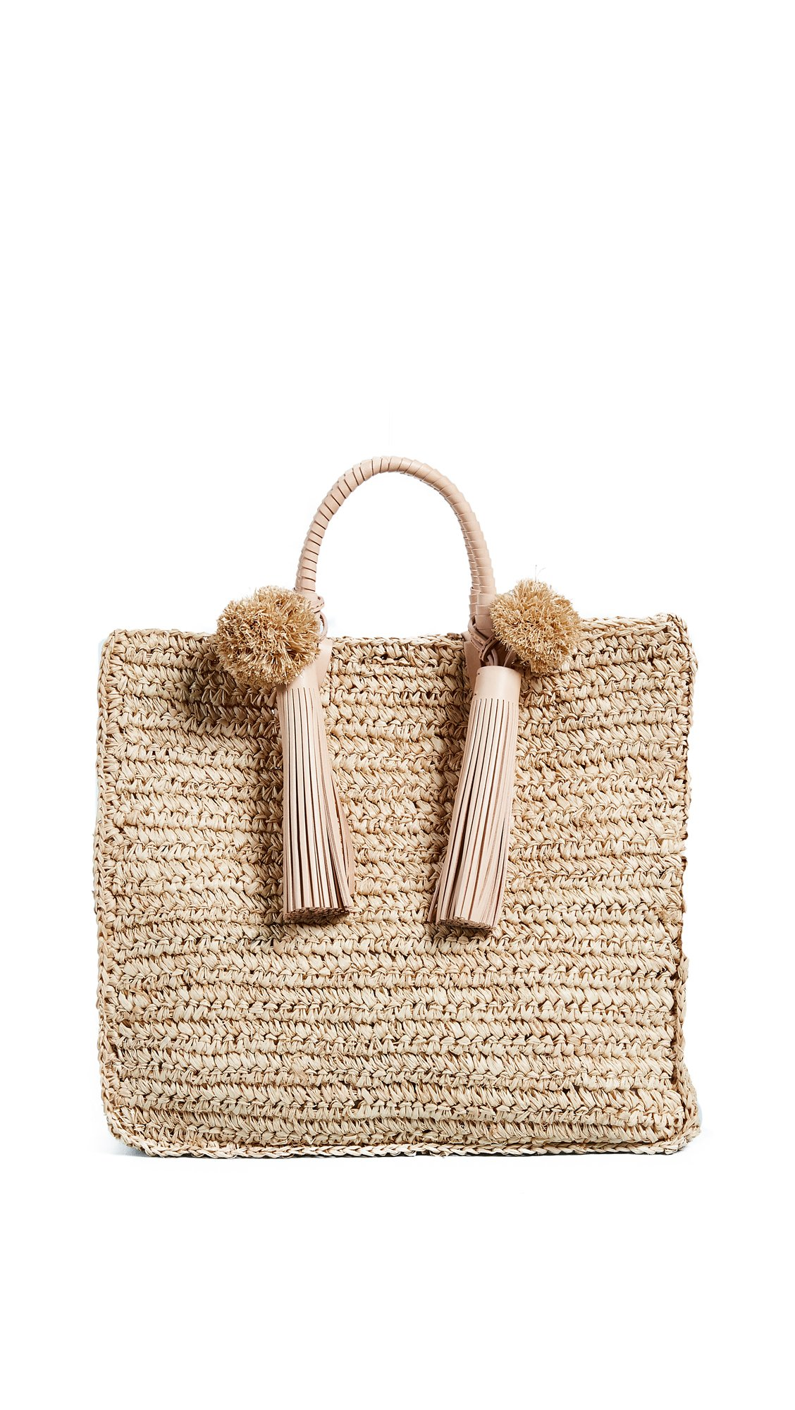Loeffler Randall Women's Straw Travel Tote, Rainbow, One Size by Loeffler Randall