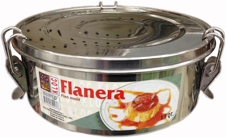 Flanera Flan Maker 1.5 cuartos de galón de acero inoxidable: Amazon.es: Alimentación y bebidas