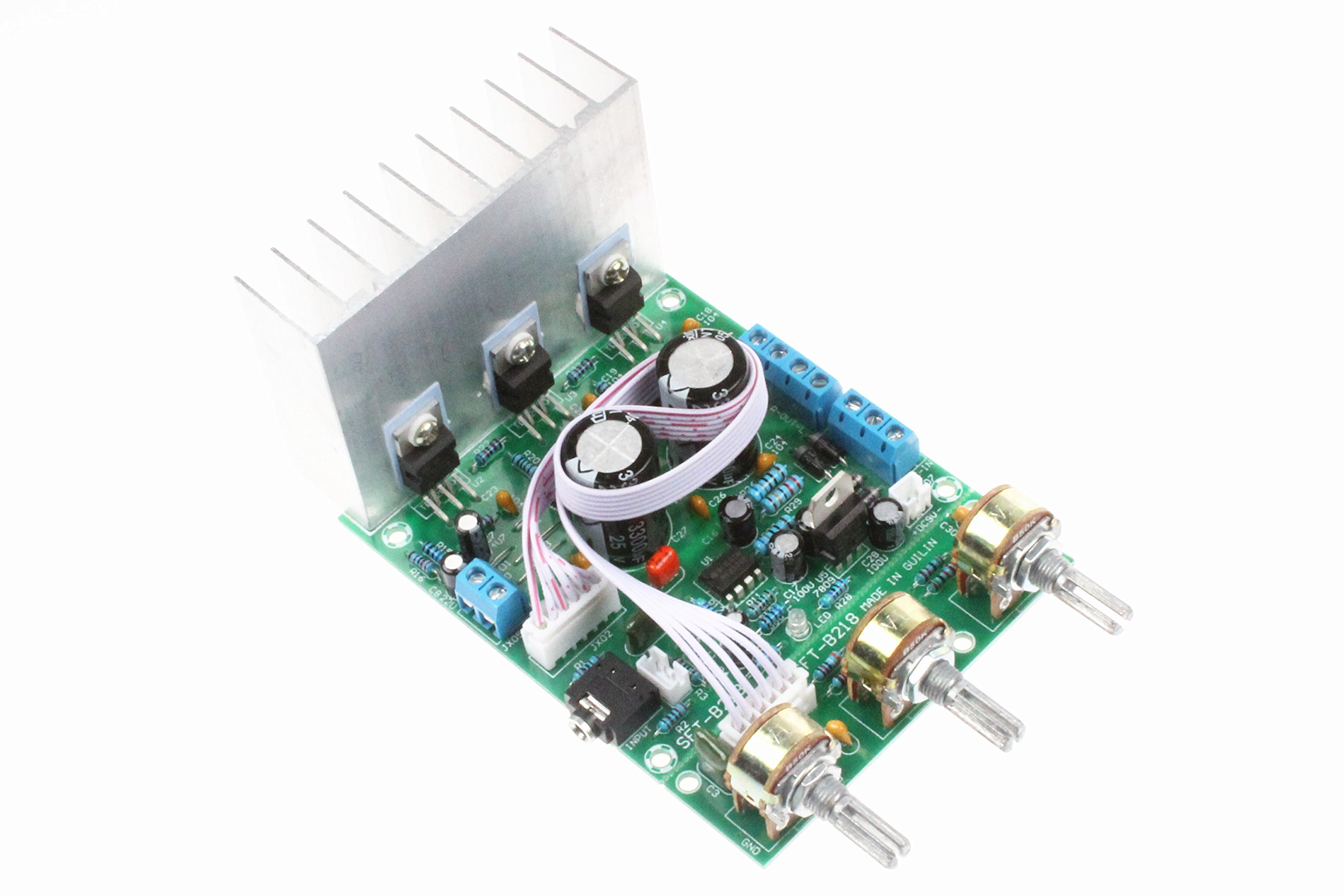 TDA2030A 2.1 3-Channel Subwoofer Power Amplifier Board 18W+18W+18W 25W Max Compatible With LM1875