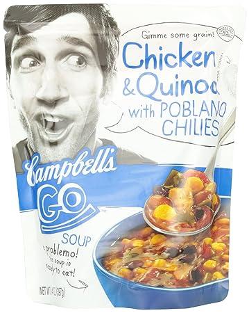 Amazoncom Campbells Go Soup Chicken Quinoa with Poblano