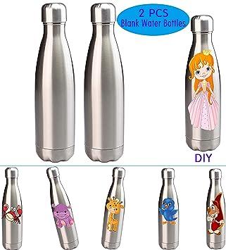 Amazon.com: UOhost - 2 botellas de agua con aislamiento al ...