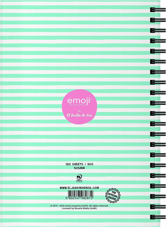 El Jardin de Noa EBN1003C - Cuaderno, A4: Emoji By Noa: Amazon.es: Oficina y papelería