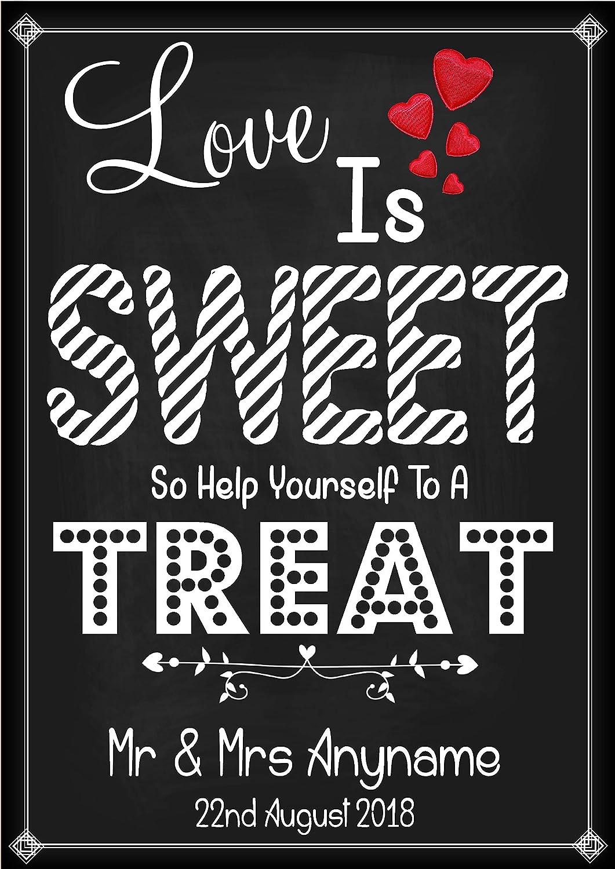 Boda Vintage Sweet Treat carro Candy cartel - cartel pizarra ...