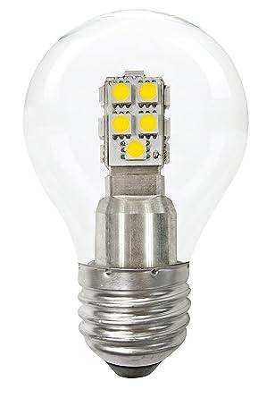 Leuci 555121.0101 Goccia regulable bombillas LED de Chiara, Vidrio, Transparente, E27, 8