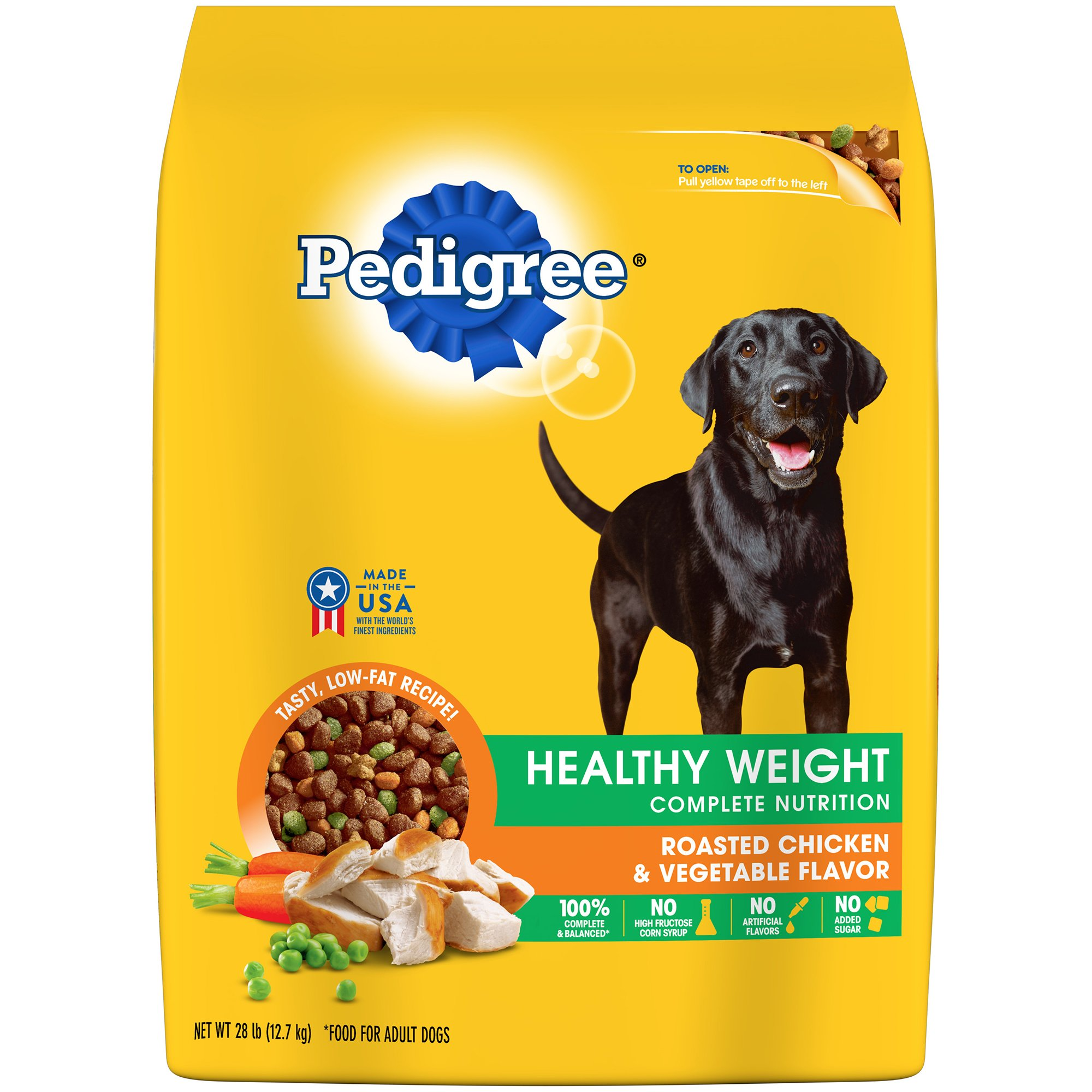 Pedigree Healthy Weight Adult Dry Dog Food Roasted Chicken & Vegetable Flavor, 28 Lb. Bag (Discontinued By Manufacturer) by Pedigree