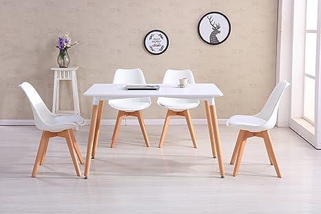 Set Ufficio Legno : Crazygadget set tavolo e sedie tulipano con gambe in legno