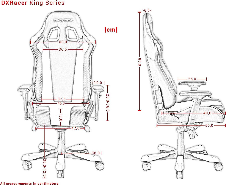 Schwarz-Rot DXRacer King Series K11-NR Gaming Stuhl aus Stoffbezug