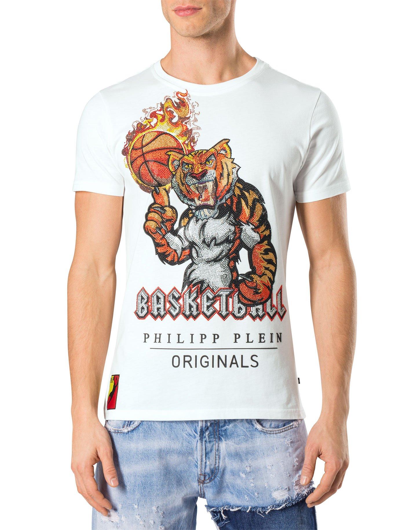 PHILIPP PLEIN - Men's T-shirt BEAU - white, M