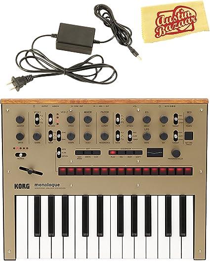 Amazon.com: Korg Monologue Monophonic og Synthesizer - Gold ... on