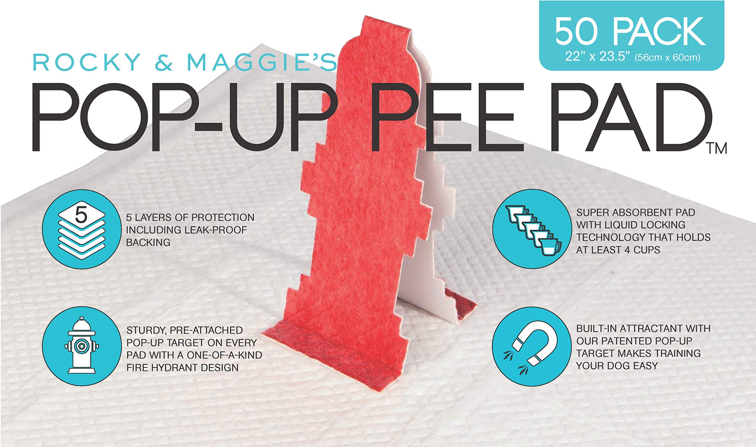 Pop-Up Pee Pad, 50 pads/box by Pop-Up Pee Pad (Image #1)