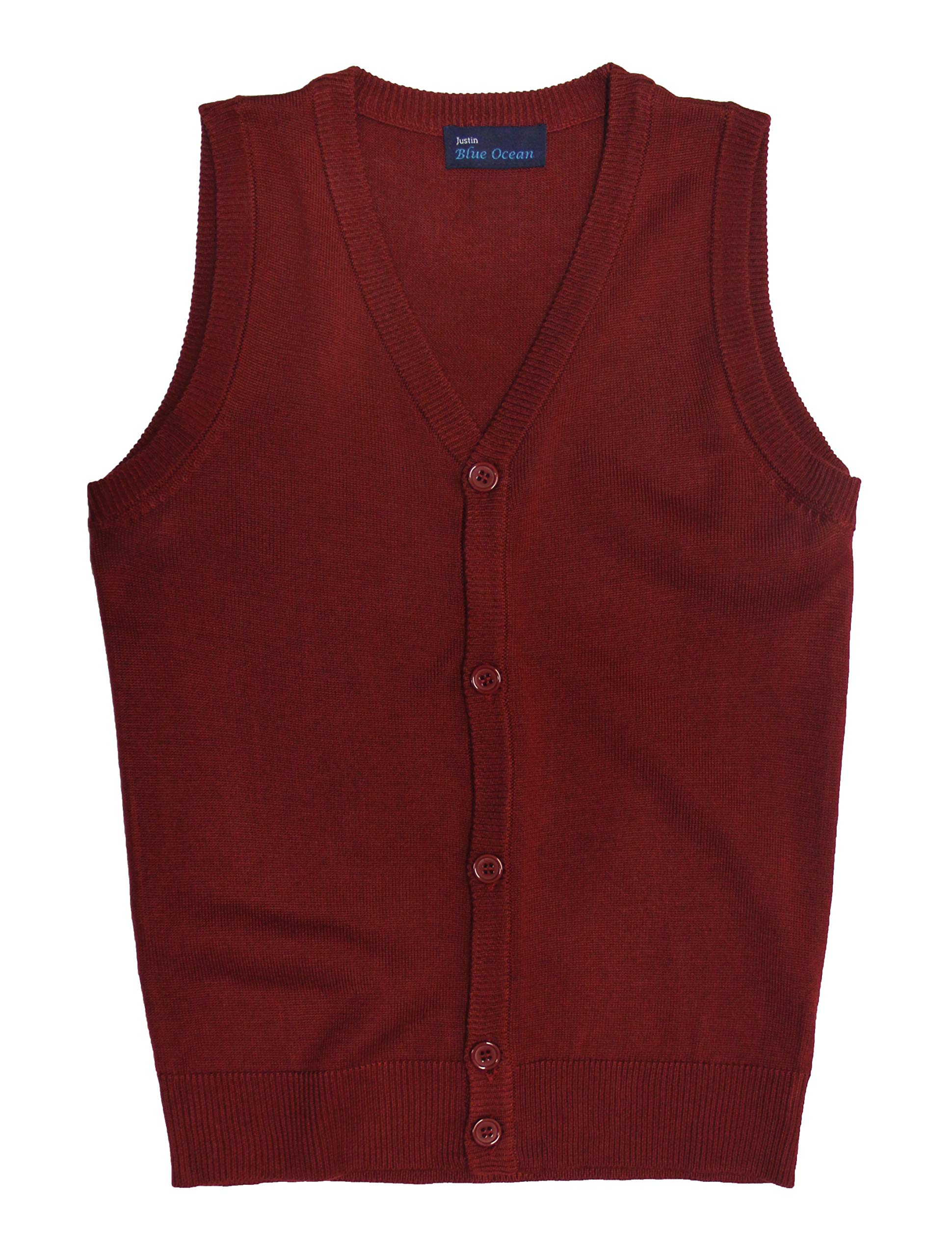 Blue Ocean Kids Cardigan Sweater Vest-8-10/Small