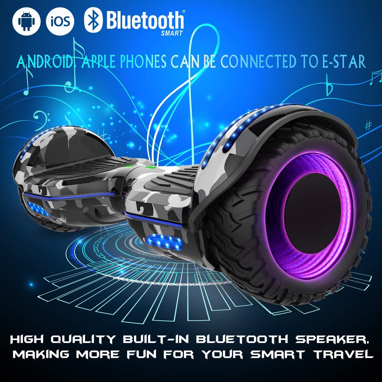 """FUORIBORDO 6.5/"""" Bluetooth auto bilanciamento SCOOTER Flash RUOTE UK STOCK"""