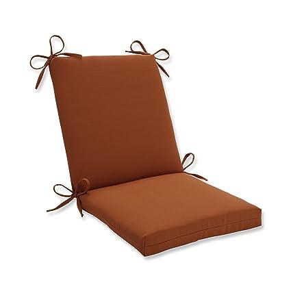 Cool Pillow Perfect Outdoor Cinnabar Squared Chair Cushion Burnt Orange Beutiful Home Inspiration Xortanetmahrainfo