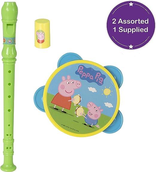 Tavitoys Peppa Pig Set Musical Pandereta Silbo Y Flauta: Amazon.es ...