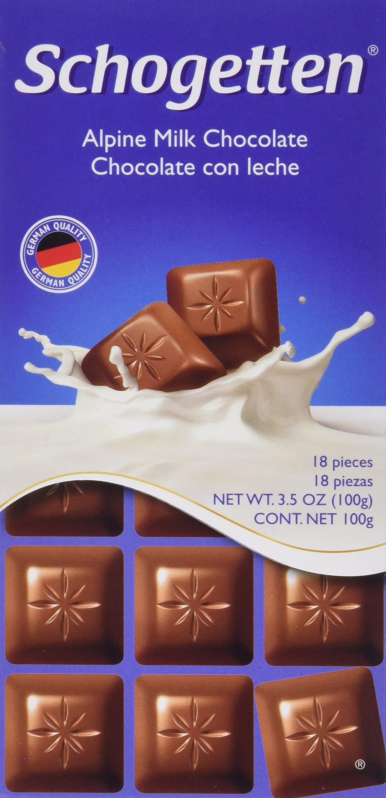 Schogetten Alpine Milk Chocolate German Chocolate Bars (Pack of 3)