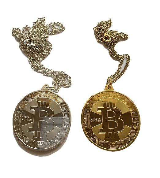 Bitcoin Halskette Physische Btc Münze In Gold O Silber Kette