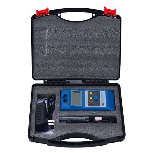 Homend LCD Gaussmeter Tesla Meter WT10A Surface Magnetic Field Tester with Ns Function Metal Probe