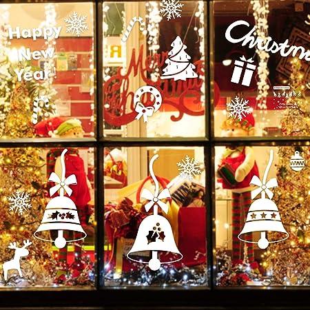 Natale Vetrofanie Adesivi per Finestre Di Natale con Fiocchi di Neve Decalcomanie da Parete Smontabili Decorazioni per la Casa Fai da Te per Vetrine Adesivi Statici in PVC