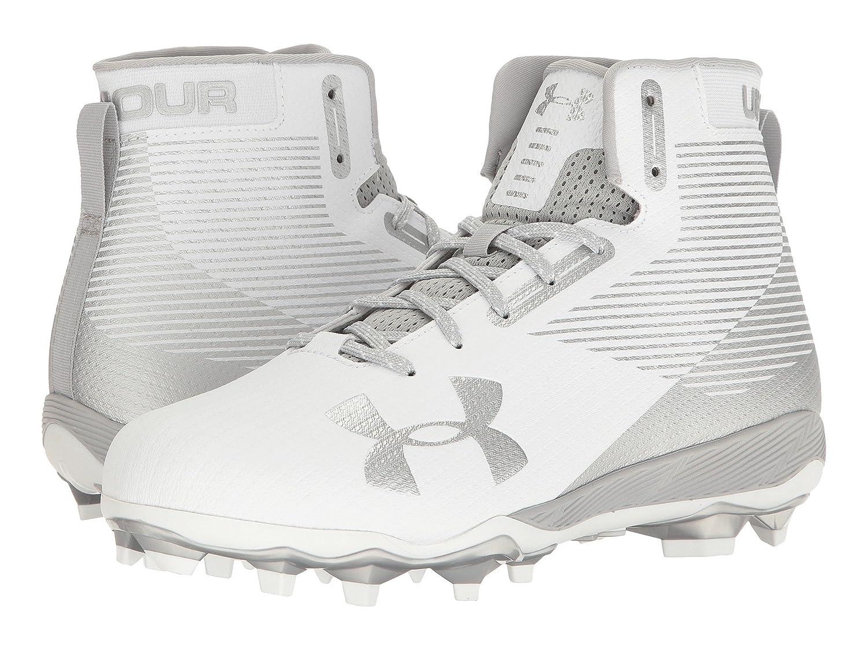 (アンダーアーマー) UNDER ARMOUR メンズフットボールアメフトシューズ靴 UA Hammer MC White/Metallic Silver 16 (34cm) D Medium B07CQ8VKTW