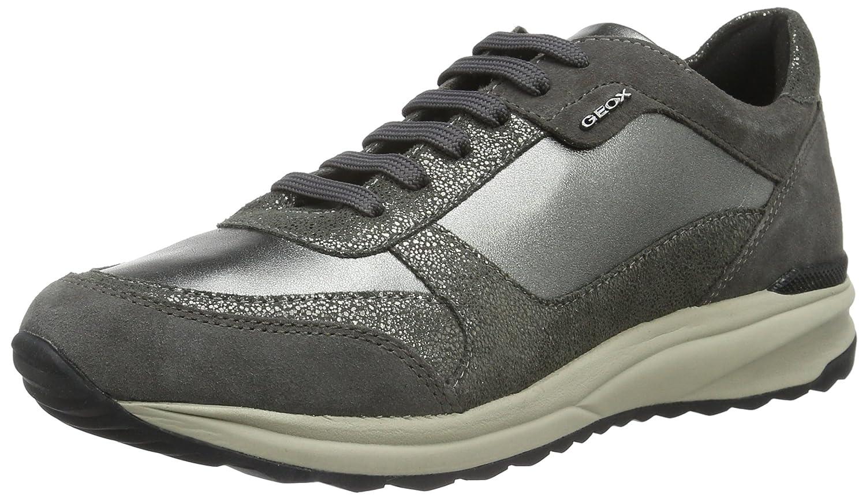 Geox D Airell C, Zapatillas para Mujer 39 EU|Gris (Gun/Dk Greyc1g9f)