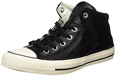 3885da3d4427 Converse Unisex Adults  CTAS High Street Hi Black Egret Top Trainers ...