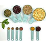 BARCHASB Stylish Measuring Cups and Spoons Set 10 Pieces Stackable Dishwasher Safe Heavy Duty for Cooking & Baking Suitable for Dry & Liquid ingredients