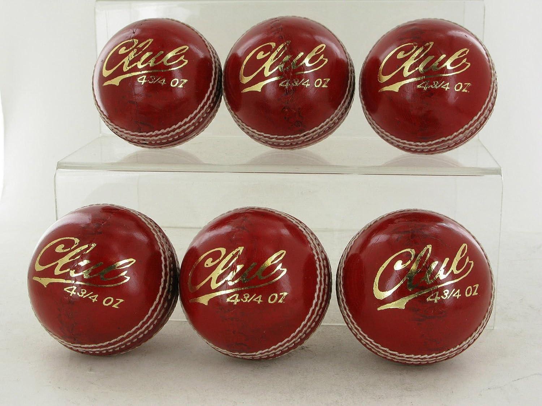 6 pelotas de críquet juvenil y calidad superior, 134 g lion sports