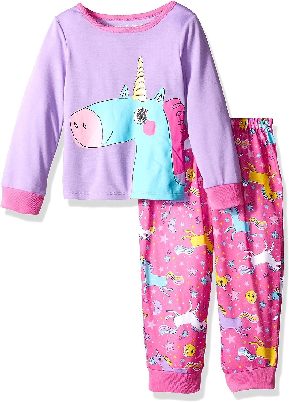 Peas /& Carrots Toddler Girls Purple Owl Fleece Long Sleeved Footed Pajamas