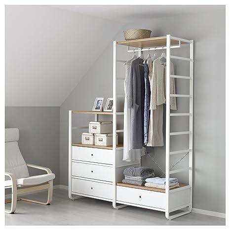 IKEA elvarli - 2 secciones blanco/bambú: Amazon.es: Hogar