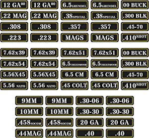 Aolamegs Ammo Can Vinyl Sticker Set Decal Label