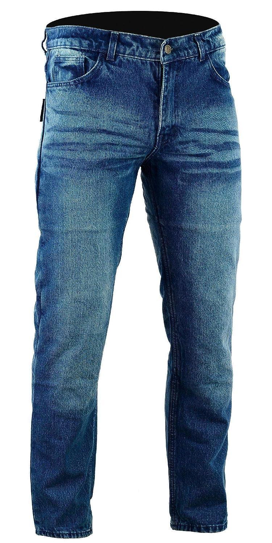 Bikers Gear Australia Limited Kevlar foderato Classic motorcycle jeans CE protezione, Stone Wash denim, 32R KJ0018-32R