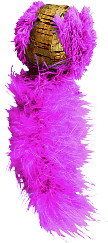 KONG - Cat Active Cork Ball - Juguete para Gatos con Plumas - Disponible en Distintos Colores
