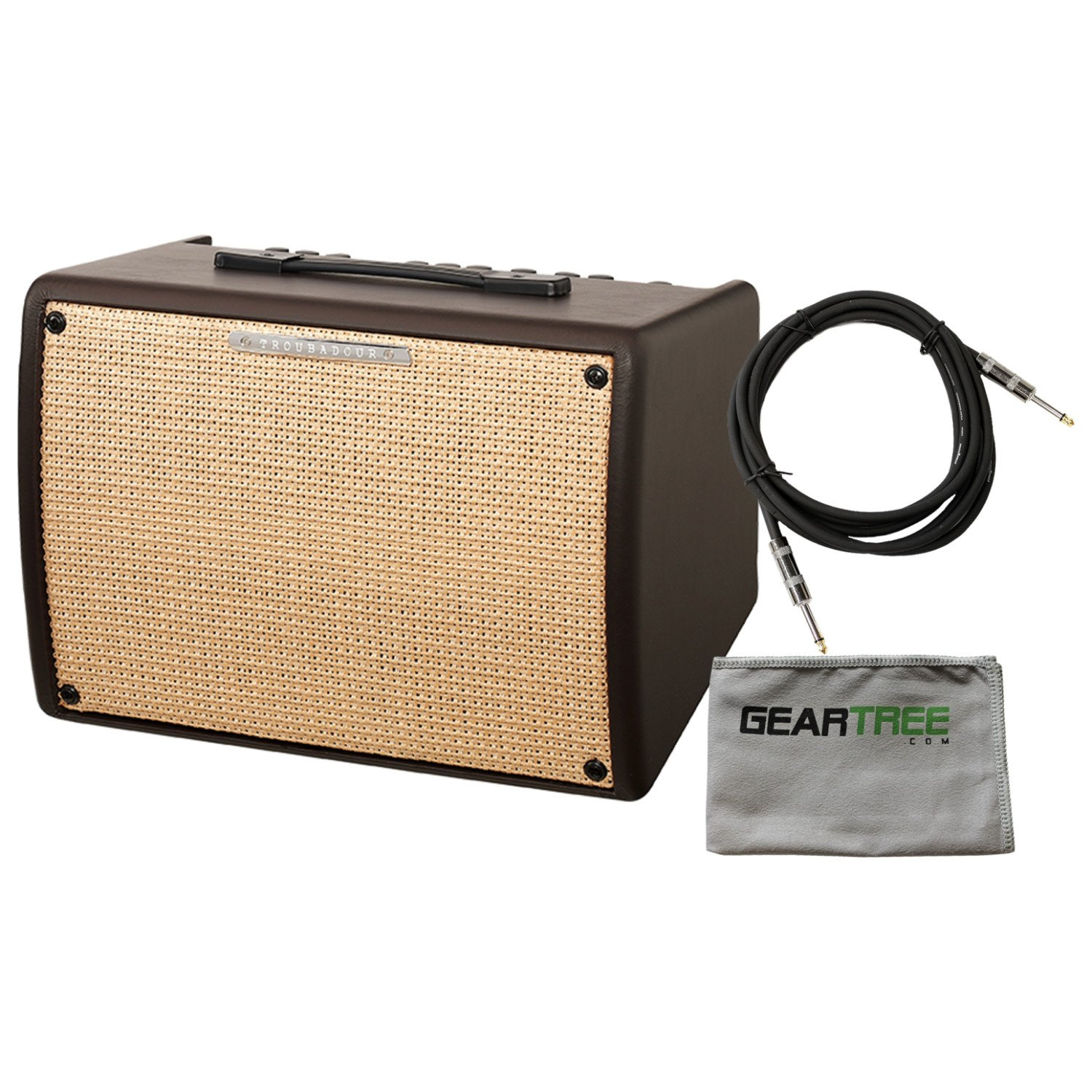 Ibanez T30II Troubadour II Acoustic Guitar Combo Amplifier Brown - 30 Watt w/ Cable and Polish Cloth by Ibanez
