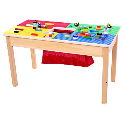 "Lego Compatible Table 32""x16"" Solid Hardwood Legs and Side Frames-Built to Last-Made in The USA-Preassembled-Ages 5 and UP: Kitchen & Dining"