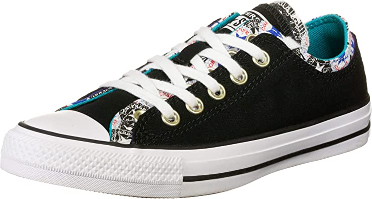 Malawi tubo Móvil  Amazon.com: Converse Chuck Taylor All Star Double Upper Varsity Remix -  Zapatillas deportivas para mujer, color negro, Multi-Color, 8: Shoes