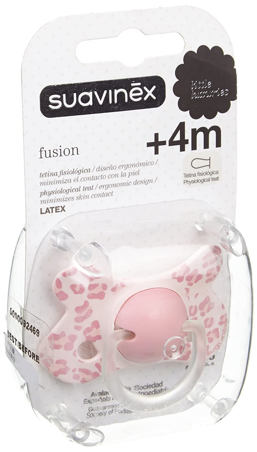 Amazon.com: Suavinex Fusion Soother Physiological Latex 4m +: Health ...