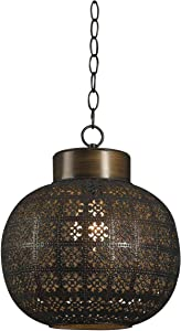 Kenroy Home Kenroy 92055ABR Transitional One Light Mini Pendant from Seville Collection in Brass-Antique Finish, 10.00 inches, Aged Bronze