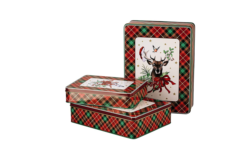 Hutschenreuther Cozy Winter - Set di 3 contenitori rettangolari per Biscotti, in lamiera, 20 x 14 cm, 24 x 18 cm, 27 x 21 cm Rosenthal GmbH 02463-725980-05583