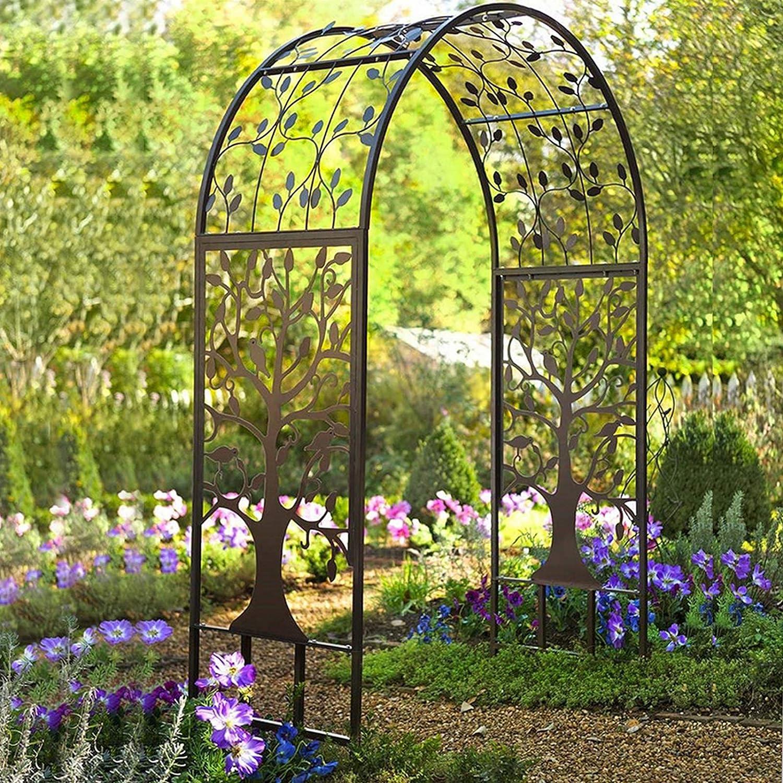 Arco de planta trepadora, arco de rosas, cenador de hierro, arco de jardín para flores, plantas, arco de patio para decoración ceremonial, banquete de ...